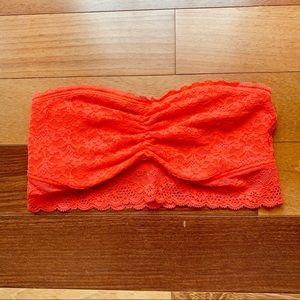Aerie Orange Lace Bandeau Bralette, small